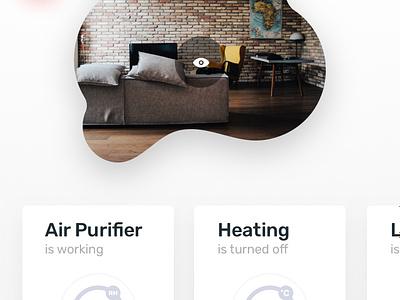 Smarth mobile house home air purifier bedroom living room ux ui app smarthome application