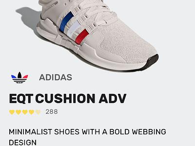Sneaker shop application app adidas ux design material shop sneaker ui