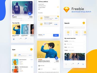 UI shop kit - freebie ui kit kit freebie free app free design application app ux ui