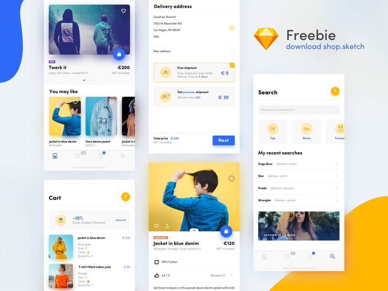 UI shop kit - freebie ui kit kit freebie free app free design application app ux ui