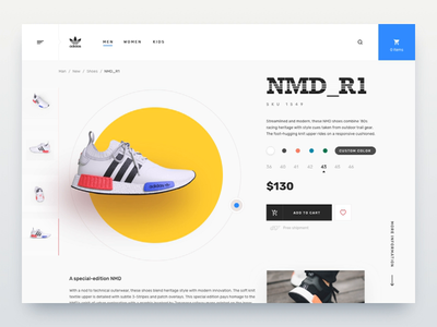 Sneakers shop - motion design 3d sneakers sneaker website web shop design animation app application ux ui