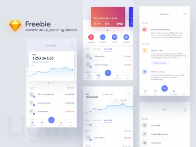 Freebie  – ui_banking.sketch file sketch download free freebie banking app banking animation design app application ux ui