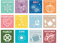 Monthly Icons