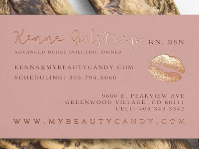 Beauty candy aesthetics business cards by lara russo dribbble beauty candy aesthetics business cards reheart Image collections