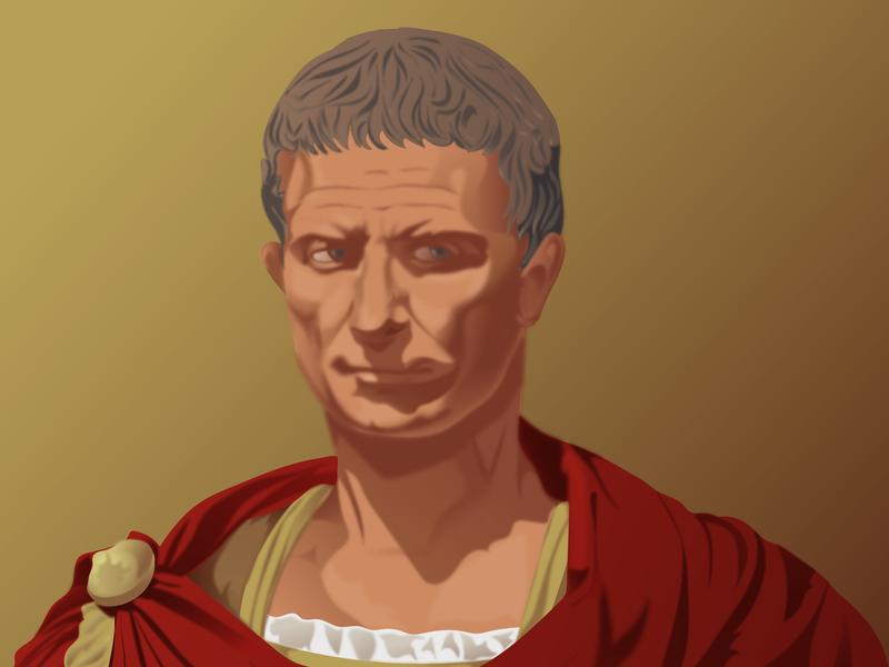 Gaius Julius Caesar antique julius red caesar roman rome vector illustration