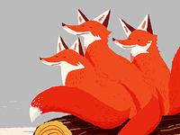 3 Fox Log