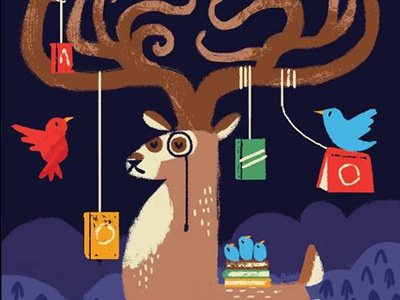 Monocle Deer birds books deer