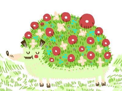 Hedgehog doodle animal hedgehog