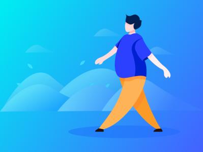 walk-趣动APP-行走状态插画