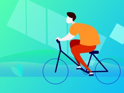 cycling-趣动APP-骑行状态插画