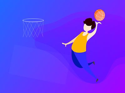 basktball design animation illustration ui