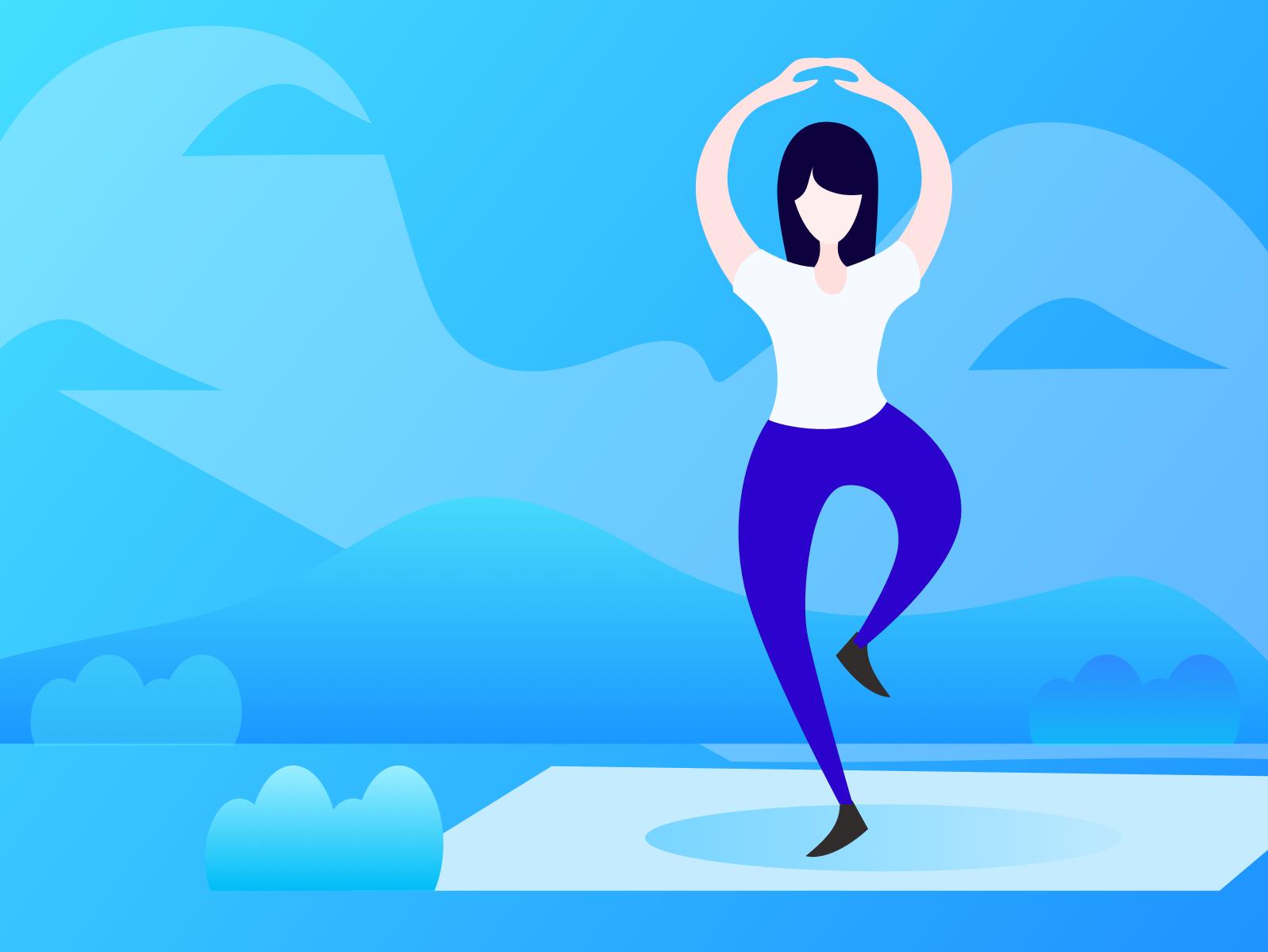 yoga animation illustration design ui