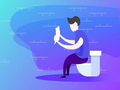 toilet animation illustration design ui