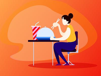 diet animation illustration design ui