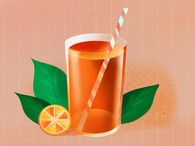lemon tea animation design illustration ui