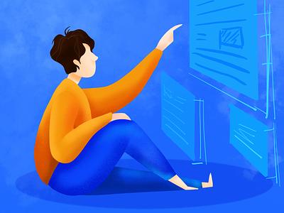 view data animation ui design illustration