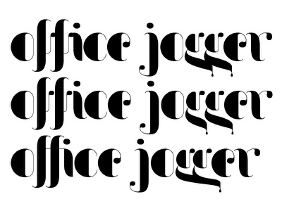 Office Jogger type design typography lettering ligature ligatures type