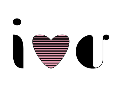 I Heart You valentines heart custom type type design typography lettering