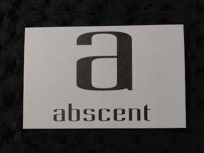 abscent businesscard (back) typography business card