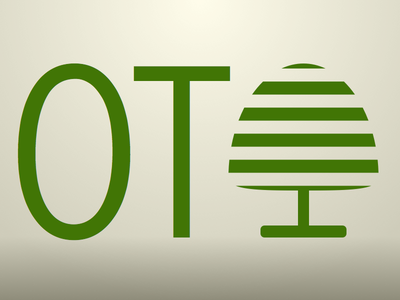 OT Logo green abstract logo