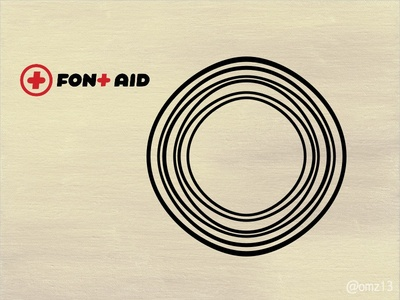 An expression of sound for FontAid VIII lettering type design om abstract glyph fontaid