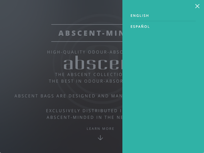 Abscent Website Goes Multilingual minimal multilingual website