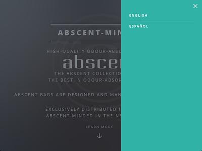 Abscent Website Goes Multilingual minimal multilingual website