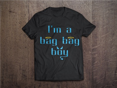 Bag Bag Boy T Shirt custom type mockup t-shirt