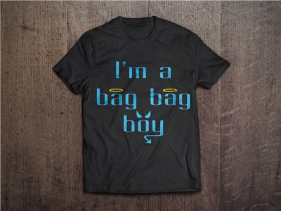Bag Bag Boy T Shirt custom type mockup t-shirt