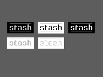 Stash Iterations minimal branding corporate identity