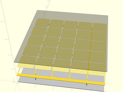 Sequent 23 openscad cad 3d lasercut acrylic frame bespoke