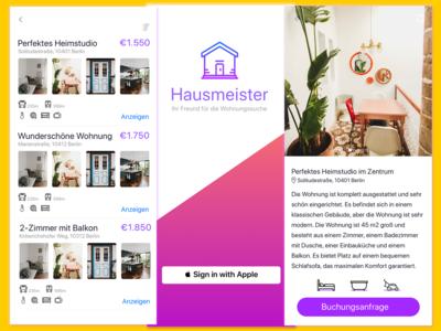 Hausmeister - Wohnungssuche App