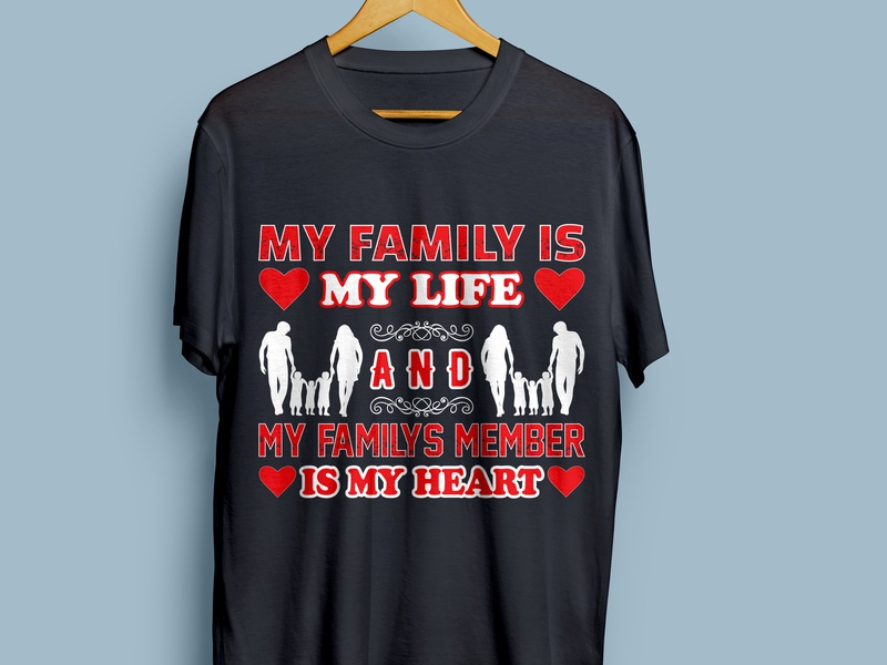 Family T-shirt Design family life family love family portrait family shirt family vector tshirts design illustration awsome t-shirt