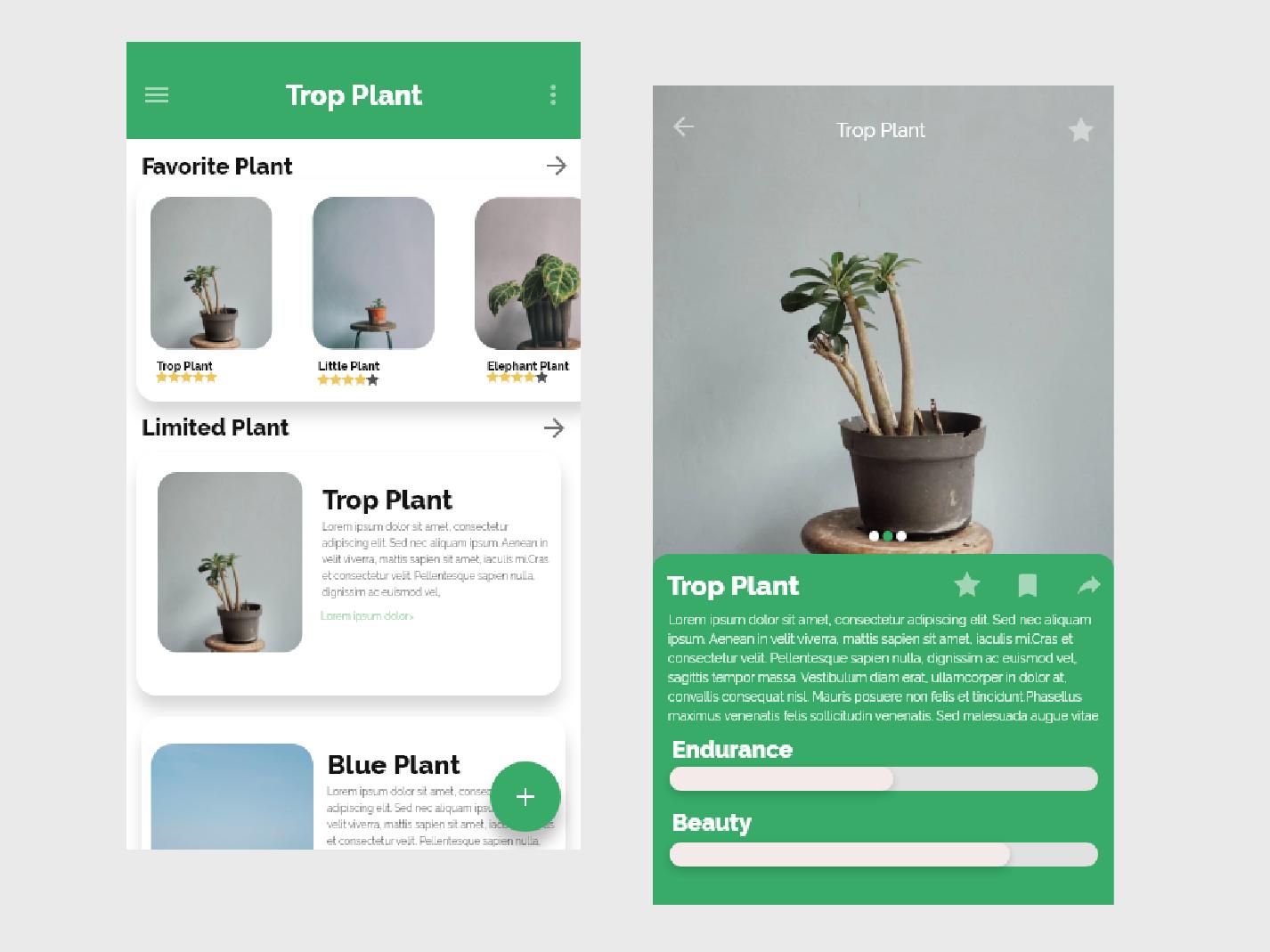 App Plant Article plant green angkot adobe xd application ux vector uiuxdesign ui design adobe ilustrator