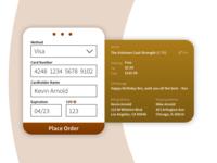 Whiskey Checkout Screen