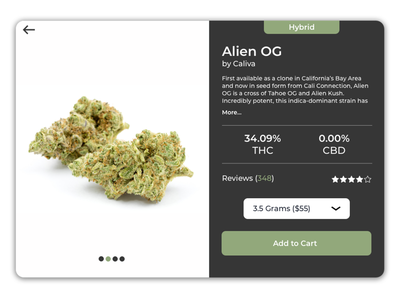 Cannabis Delivery Shopping Cart elegant minimalist clean ui web design web designer design shopping cart user experience uidesign ui design ux ui