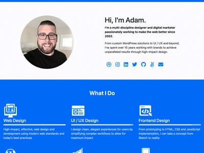 Resume Landing Page Design