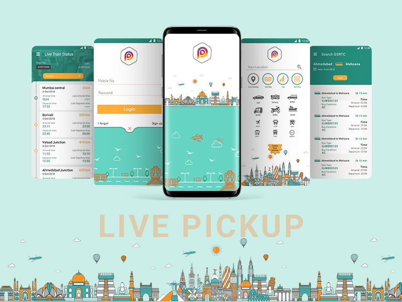 Live Pickup app design ui