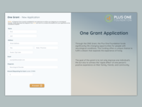 Daily UI - One Grant Redesign
