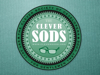 Clever Sods Badge green logo badge texture fabric