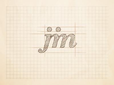 Jim - logo concept paper sketched logo