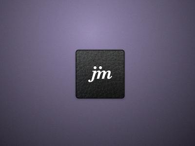 Jim Logo - polished concept leather purple logo