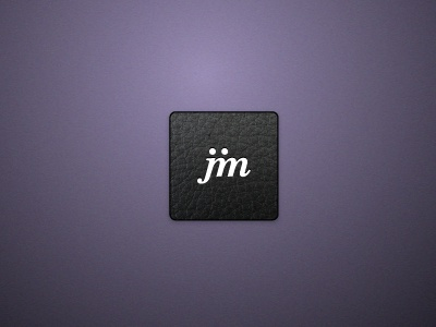 Jim Logo - polished concept leather purple logo