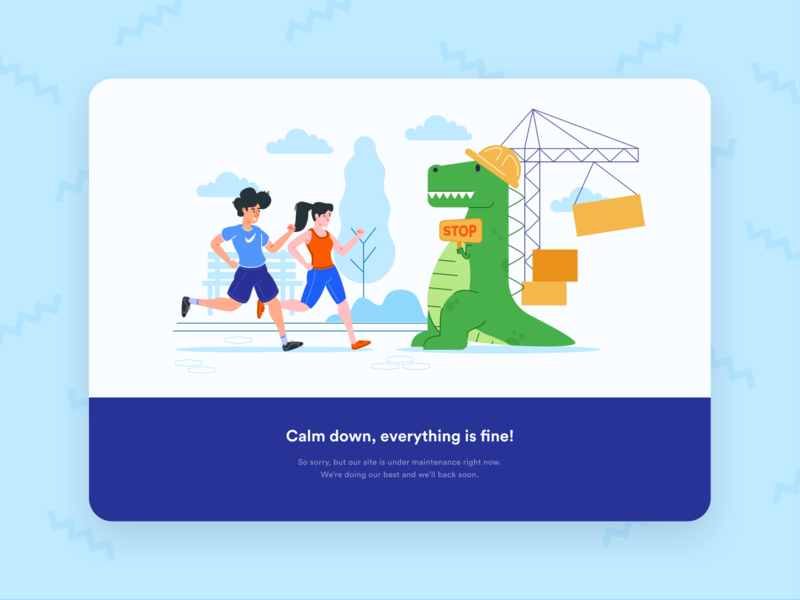 Maintenance Page Desktop Illustration
