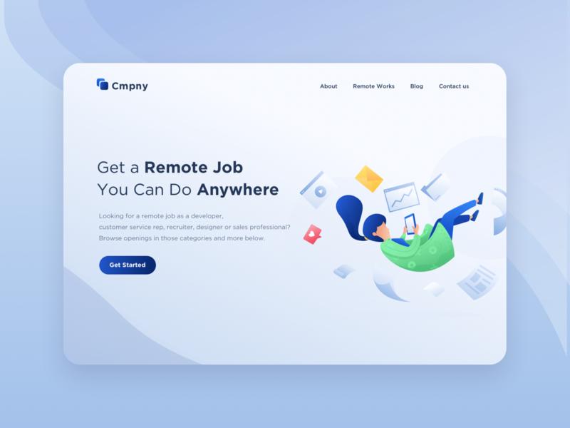 Remote Job Illustration - Website Header