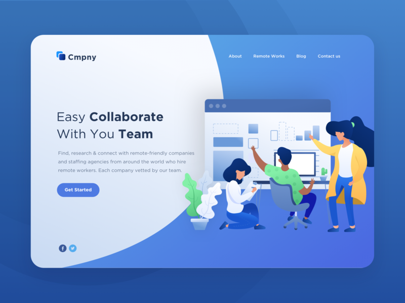 Teamwork Illustration - Website Header