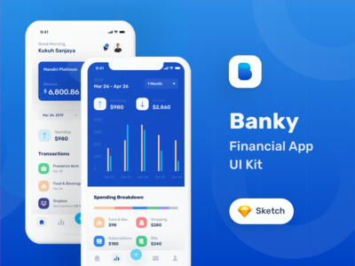 Banky Financial App Ui Kit