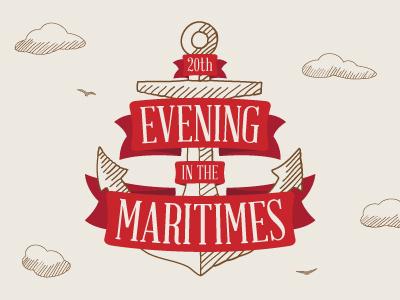 Evening in the Maritimes 2014 maritimes anchor ribbon illustration banding