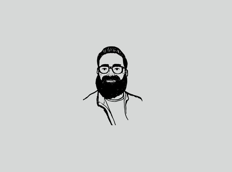 Shear Revival - Portrait Illustrations company supply beauty grooming vector beard man person people handmade texture handdrawn illustration portrait
