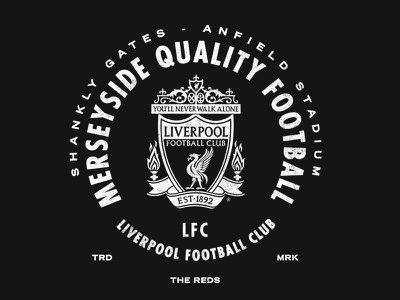 LFC - Merseyside badge typography texture tee soccer liverpool liverbird lfc football club bird anfield